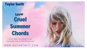 This is an image of Taylor Swift For Cruel Summer Chords