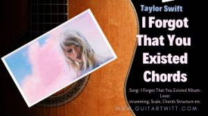 Read more about the article Taylor Swift – I Forgot That You Existed Chords