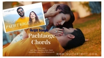 This is an image of Vicky Kaushal & Nora Fatehi for Pachtaoge Chords by Arijit Singh