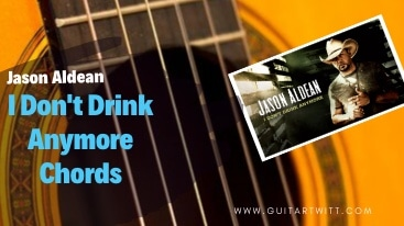 This is an Image for I Don't Drink Anymore Chords, Jason Aldean.