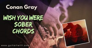 Read more about the article WISH YOU WERE SOBER CHORDS WITH STRUMMING – Conan Gray