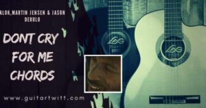 Read more about the article DONT CRY FOR ME CHORDS by Alok, Martin Jensen & Jason Derulo