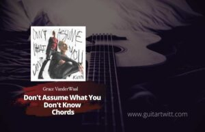 Read more about the article Grace VanderWaal – Don't Assume What You Don't Know Chords