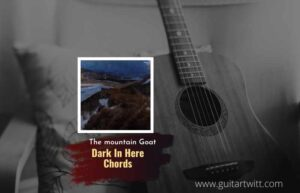 Read more about the article The Mountain Goats – Dark In Here chords