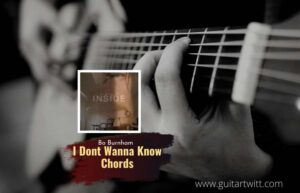 Read more about the article Bo Burnham – I Dont Wanna Know chords
