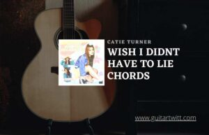 Read more about the article Catie Turner – Wish I Didnt Have To Lie chords