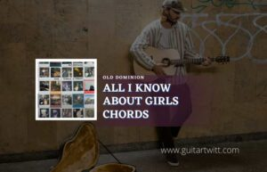 Read more about the article Old Dominion – All I Know About Girls chords