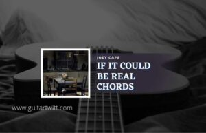 Read more about the article It Could Be Real chords by Joey Cape
