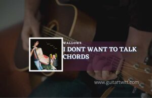 Read more about the article I Dont Want To Talk chords by Wallows